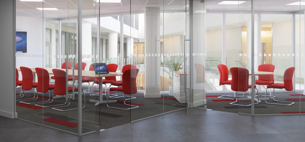 The benefits of glass partitioning office changes for Office design kent
