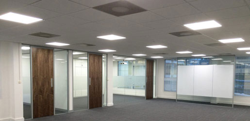 LED Lighting | Office Fit-out | New Office Design | Sussex | Surrey | Hampshire | London | Kent
