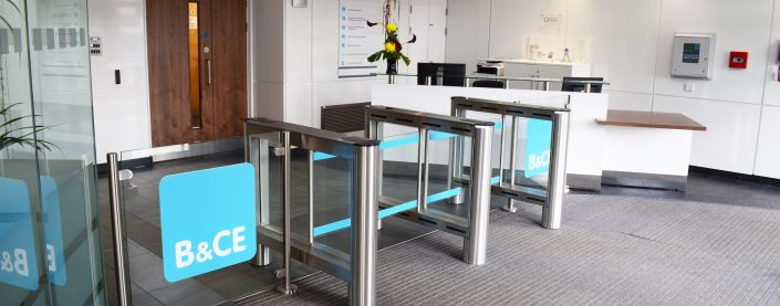 B&CE | Reception Refurbishment | Glass Partitioning | Reception Furniture | Sussex | Surrey | London | Hampshire | Kent