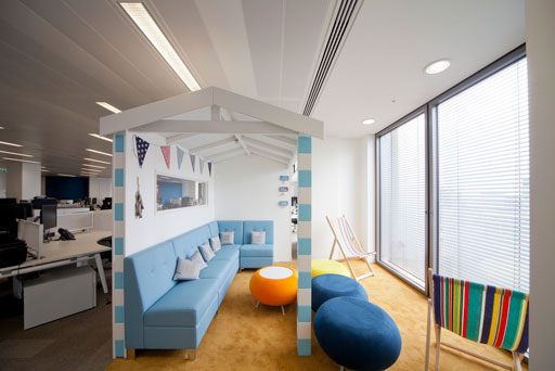 Beach Breakout Area | Office Design | Summer Office Design | Sussex | Surrey | Hampshire | London | Kent
