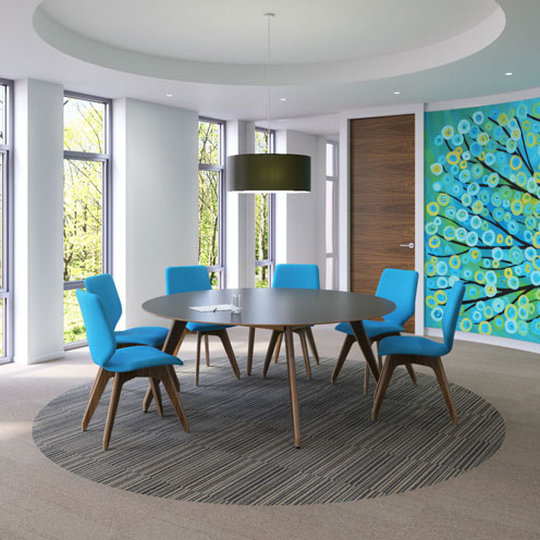 Blue Meeting Room Design