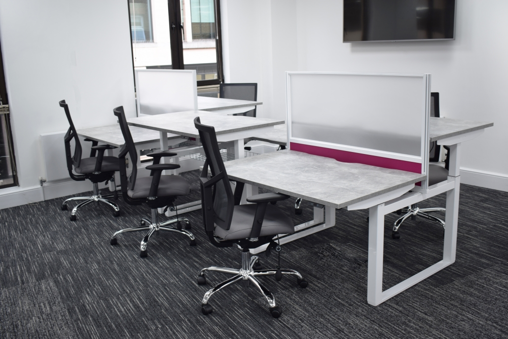 Sit-stand desks | HiRise Desks | Height Adjustable Desks | Office Furniture | Office Design | Office Fit-Out | Sussex | Surrey | Hampshire | London | Kent