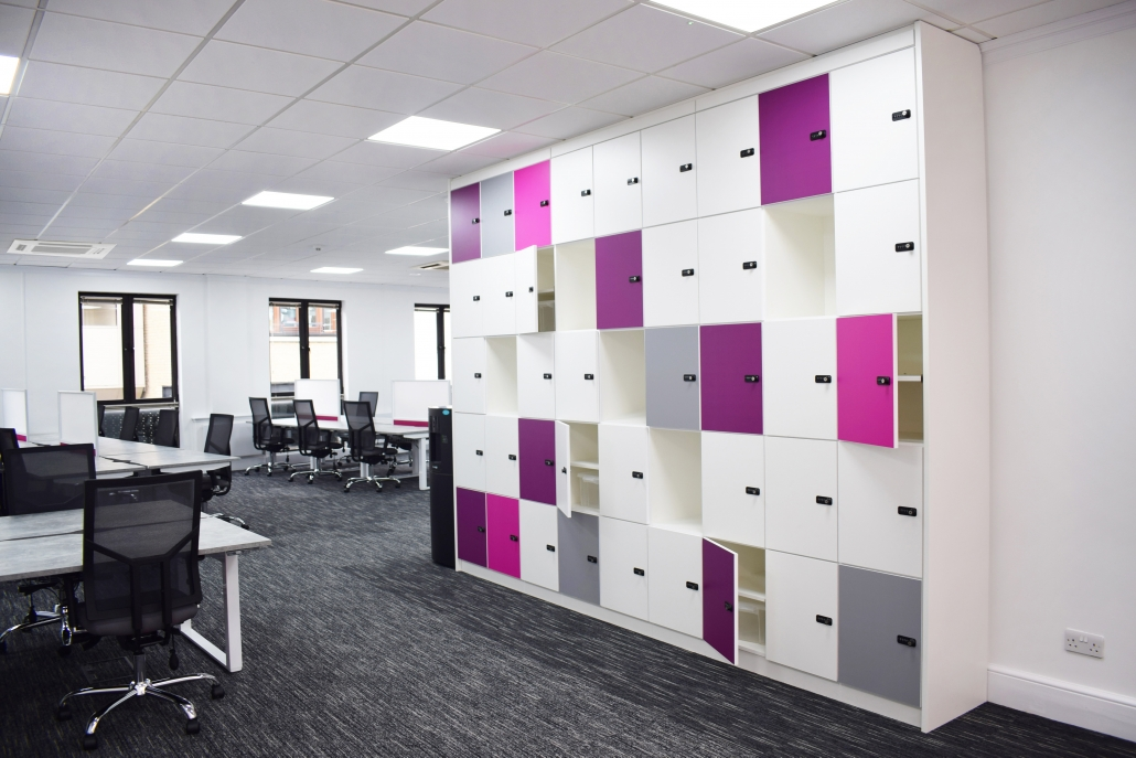 Sit-stand desks | HiRise Desks | Height Adjustable Desks | Lockers | Storage | Office Furniture | Office Design | Office Fit-Out | Sussex | Surrey | Hampshire | London | Kent