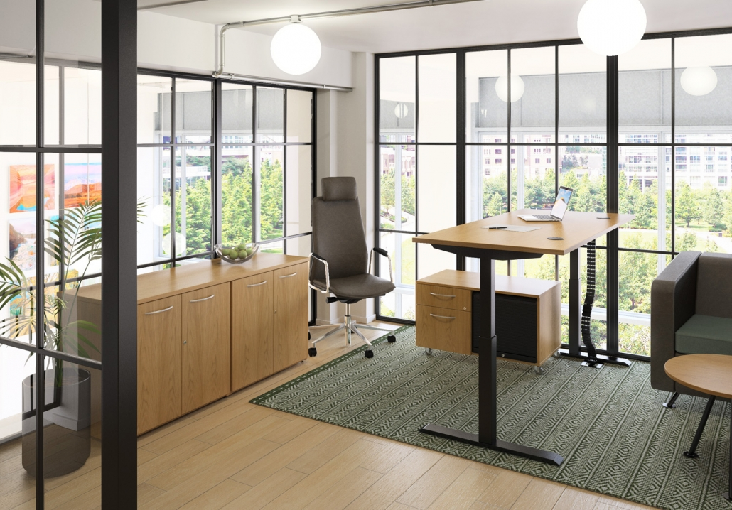 HiRise 2 | Height adjustable | Working From Home | Office Furniture | Home Office Furniture | Office Design | Office Refurbishment | Office Design